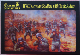 Caesar Miniatures 1/72 CMH077 German Infantry with Tank Riders Set 1 (WW2)